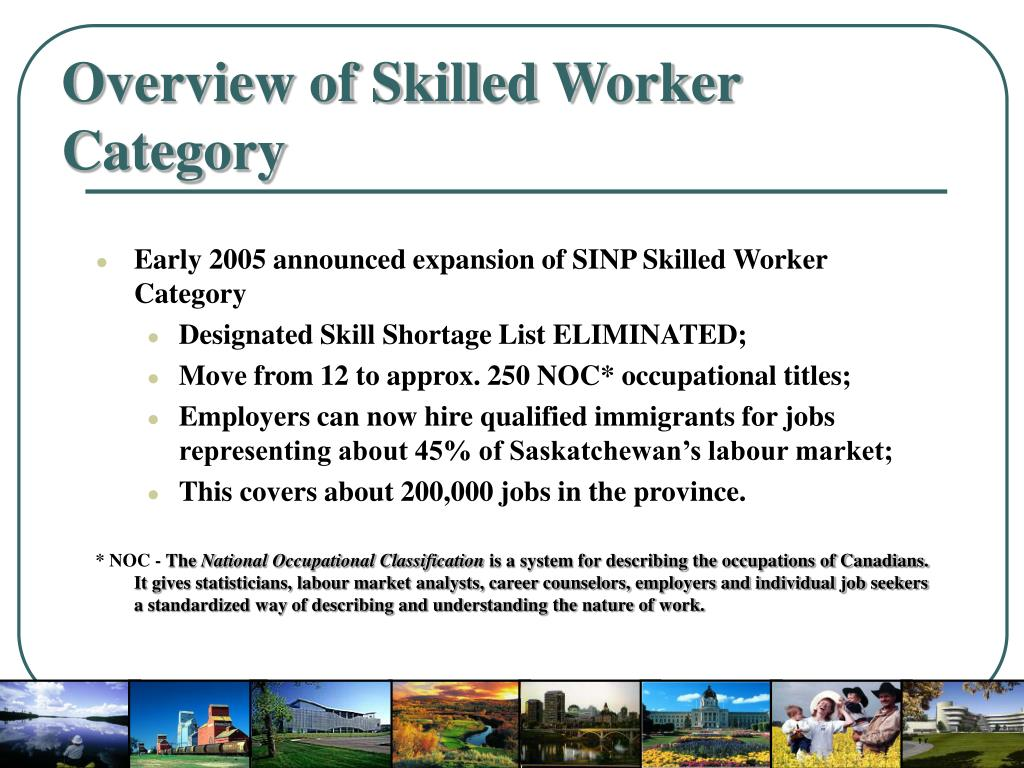 Overview of Skilled Worker Category