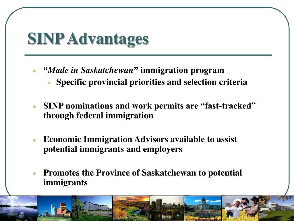 SINP Advantages