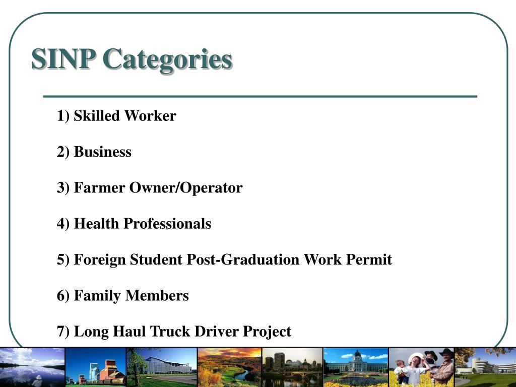 SINP Categories