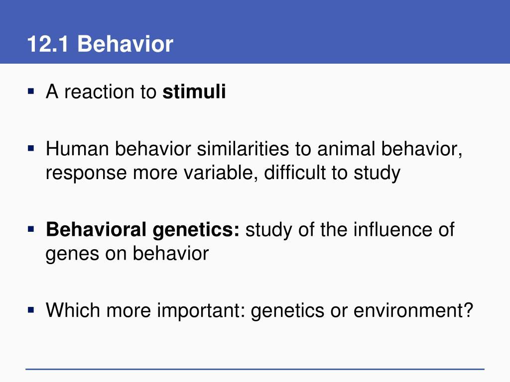 12.1 Behavior