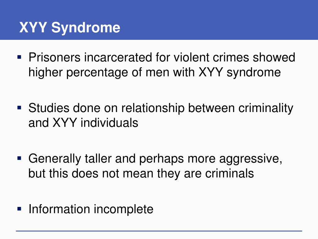 XYY Syndrome