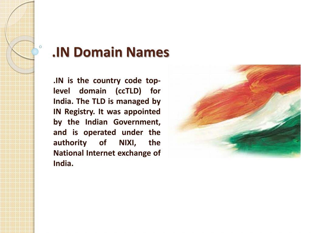 .IN Domain Names
