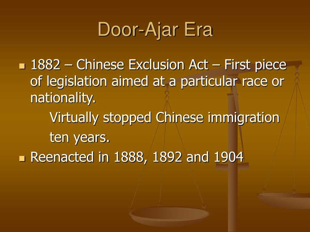 Door-Ajar Era