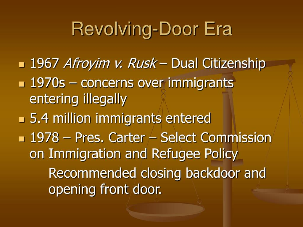 Revolving-Door Era
