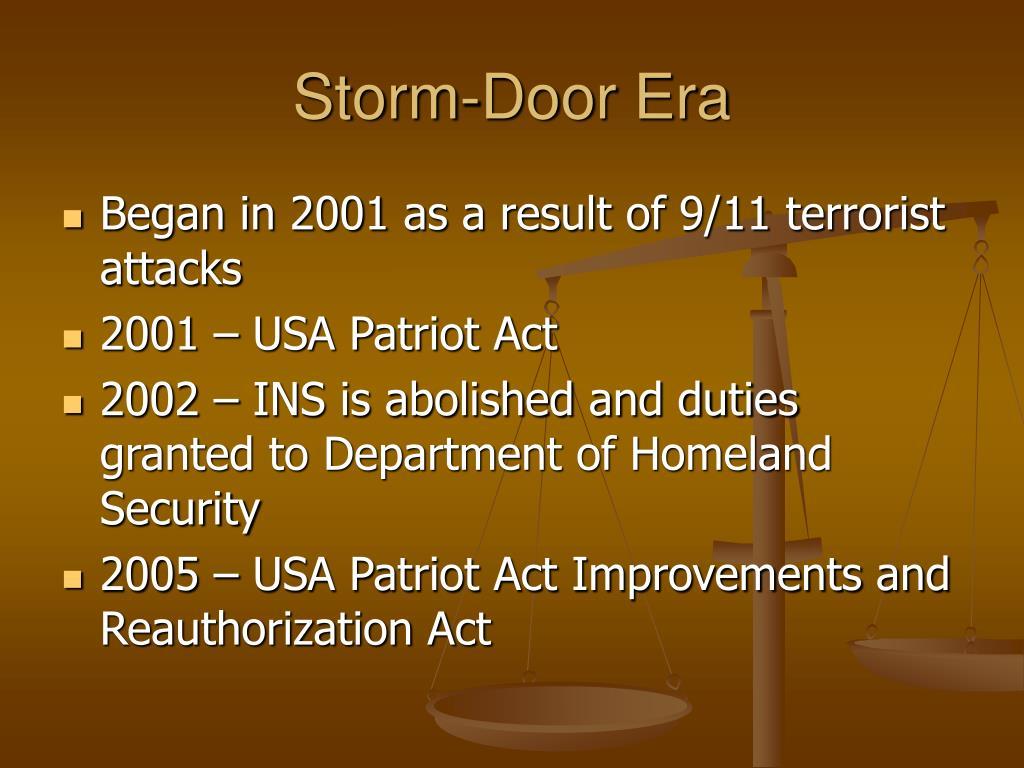Storm-Door Era