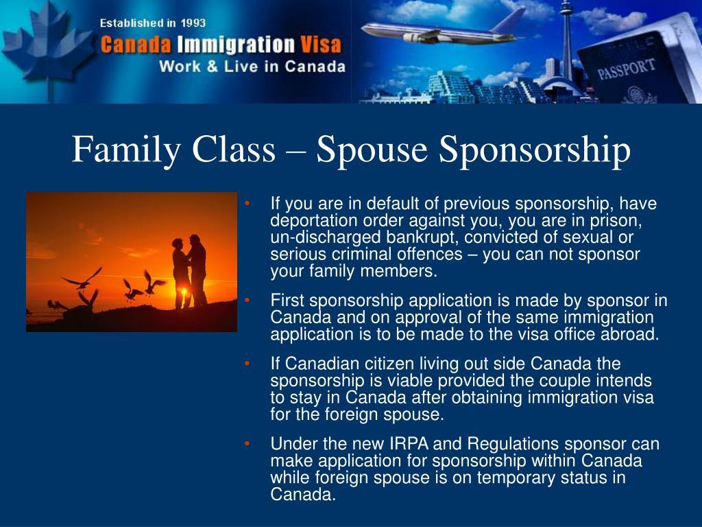 Family Class – Spouse Sponsorship