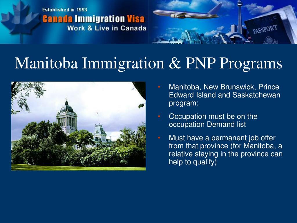 Manitoba Immigration & PNP Programs