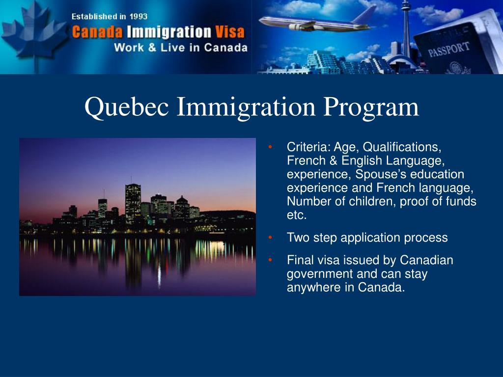 Quebec Immigration Program