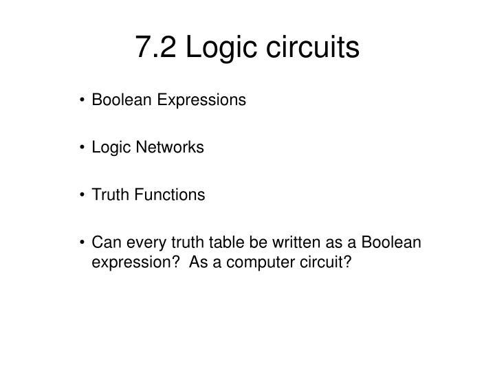 7.2 Logic circuits