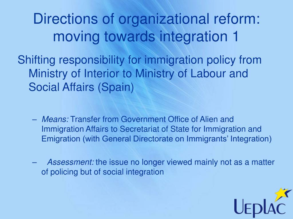 Directions of organizational reform: moving towards integration 1