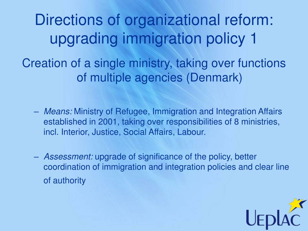Directions of organizational reform: upgrading immigration policy 1