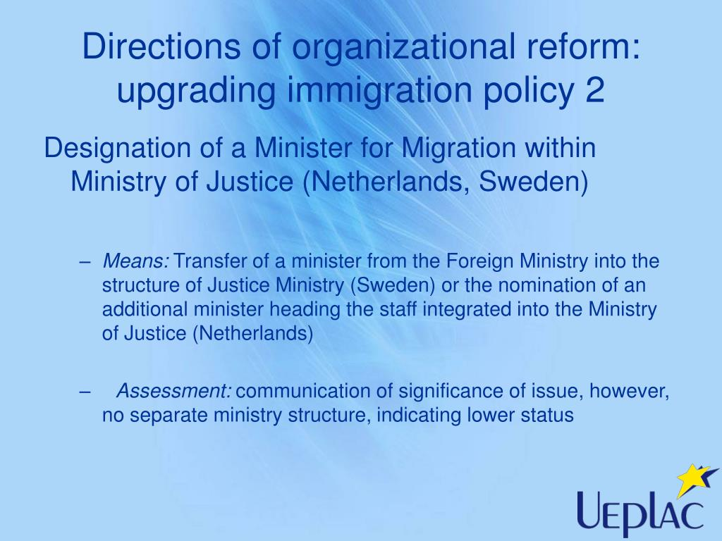 Directions of organizational reform: upgrading immigration policy 2