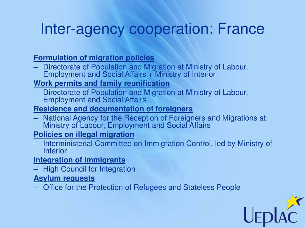 Inter-agency cooperation: France