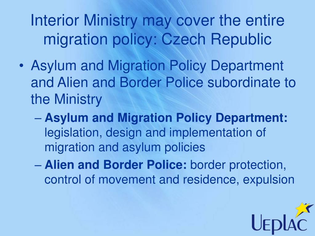 Interior Ministry may cover the entire migration policy: Czech Republic