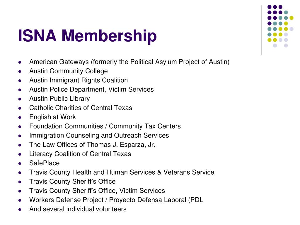 ISNA Membership
