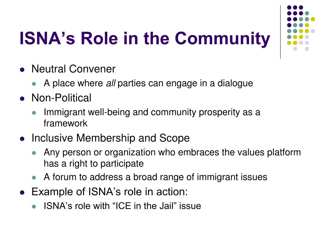 ISNA's Role in the Community