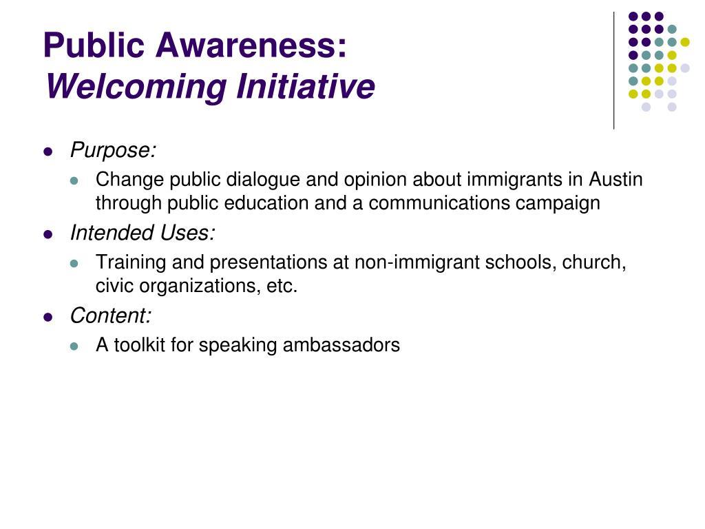 Public Awareness:
