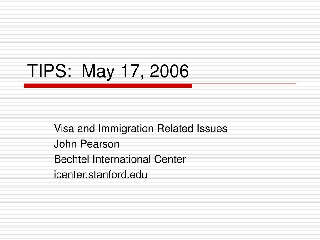 tips may 17 2006
