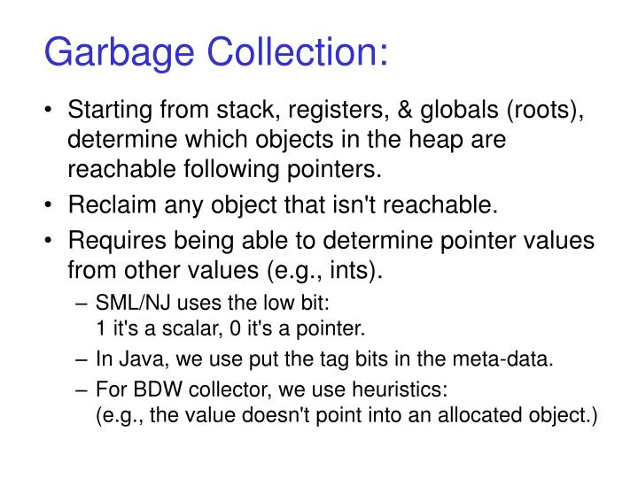Garbage Collection: