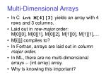 multi dimensional arrays