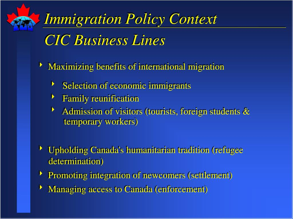 Immigration Policy Context