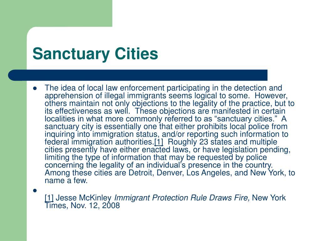 Sanctuary Cities