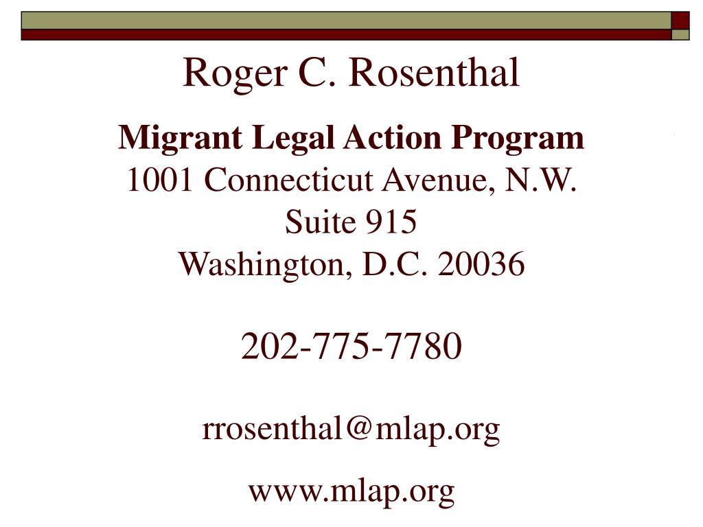 Roger C. Rosenthal
