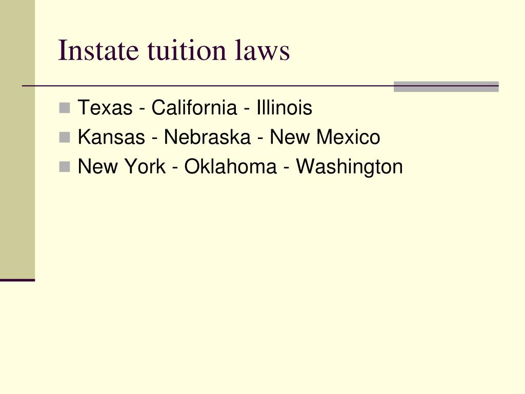 Instate tuition laws