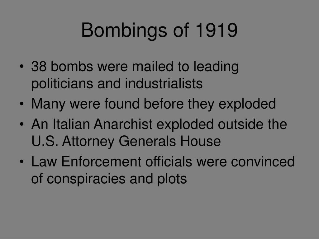 Bombings of 1919