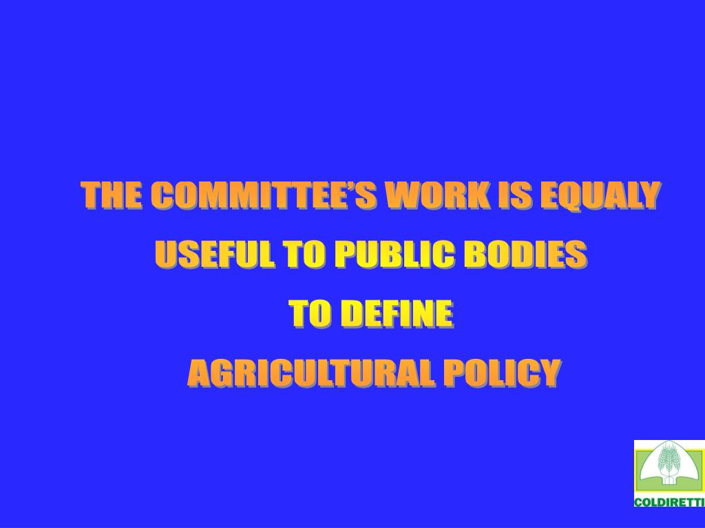 THE COMMITTEE'S WORK IS EQUALY