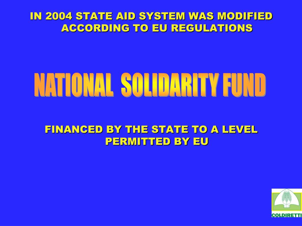 NATIONAL  SOLIDARITY FUND