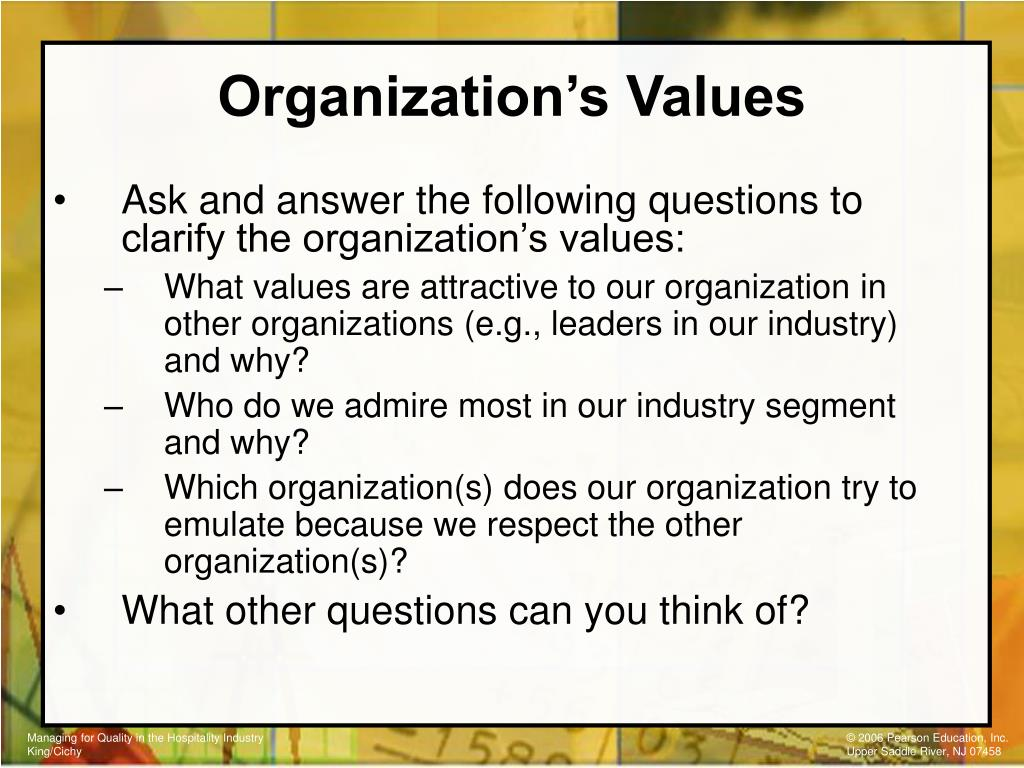 Organization's Values