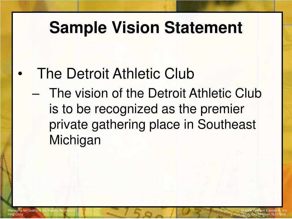 Sample Vision Statement