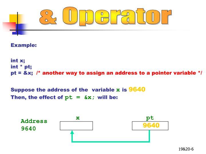 & Operator