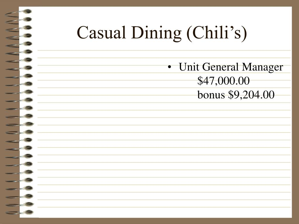 Casual Dining (Chili's)