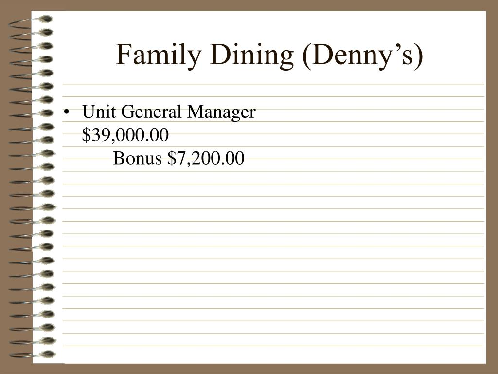 Family Dining (Denny's)
