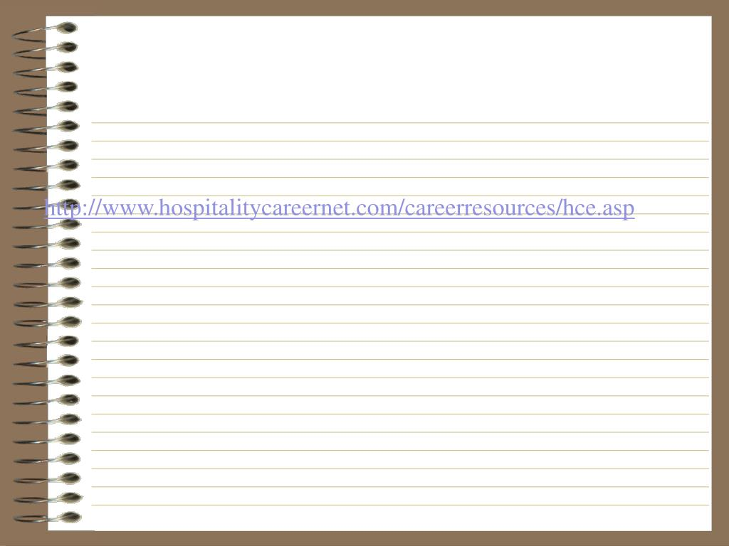 http://www.hospitalitycareernet.com/careerresources/hce.asp