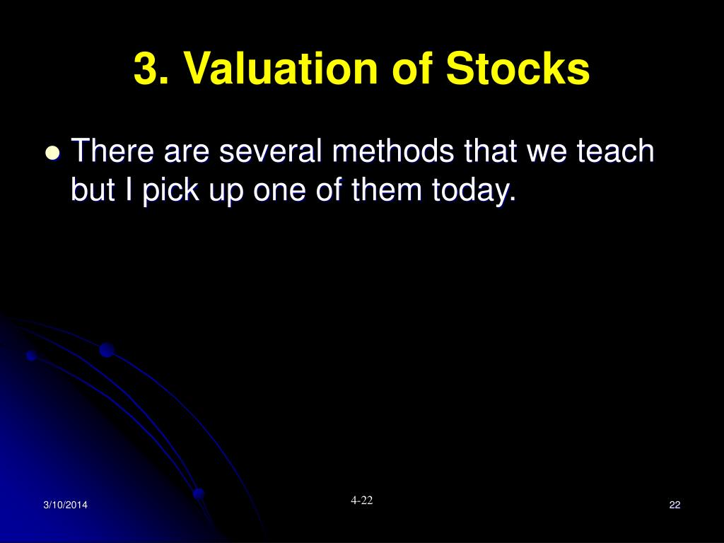 3. Valuation of Stocks