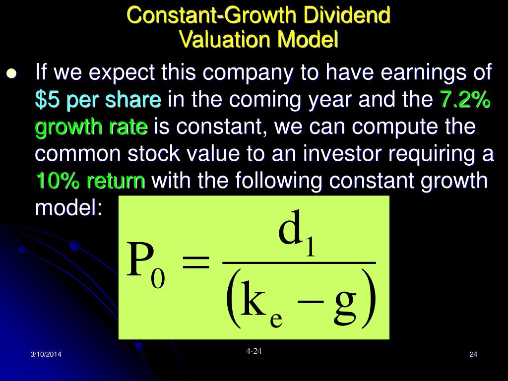 Constant-Growth Dividend