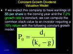 constant growth dividend valuation model24