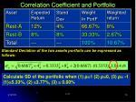 correlation coefficient and portfolio