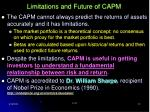 limitations and future of capm