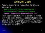 one mini case