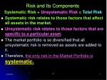 risk and its components