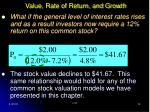 value rate of return and growth28
