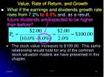 value rate of return and growth31