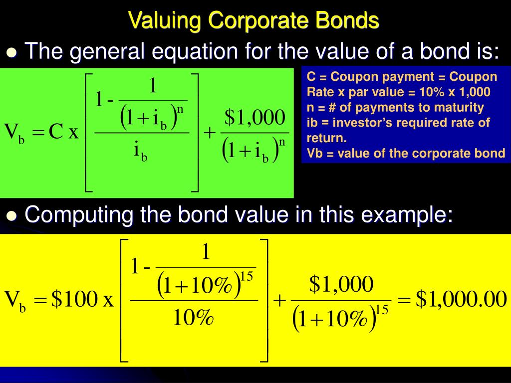 Valuing Corporate Bonds