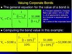 valuing corporate bonds16