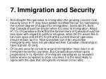7 immigration and security
