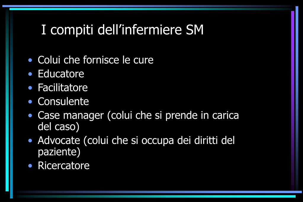 I compiti dell'infermiere SM